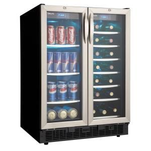 Danby Silhouette 27-Bottle Built-In Wine Cooler and 60-Can Beverage Center-DBC2760BLS at The Home Depot