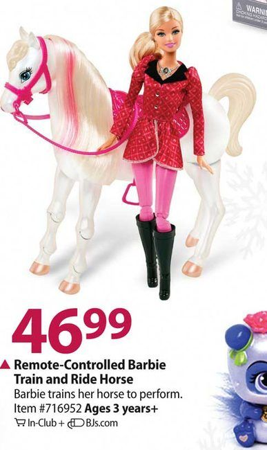 Remote Controlled Barbie Train and Ride Horse at BJ s Wholesale 46 99    Elija. 17 Best images about Barbie on Pinterest   Barbie house  How to
