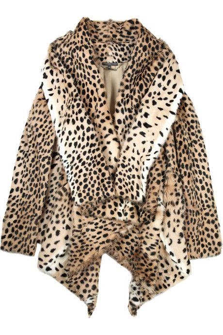 Александр Маккуин Leopard-принт козел куртка