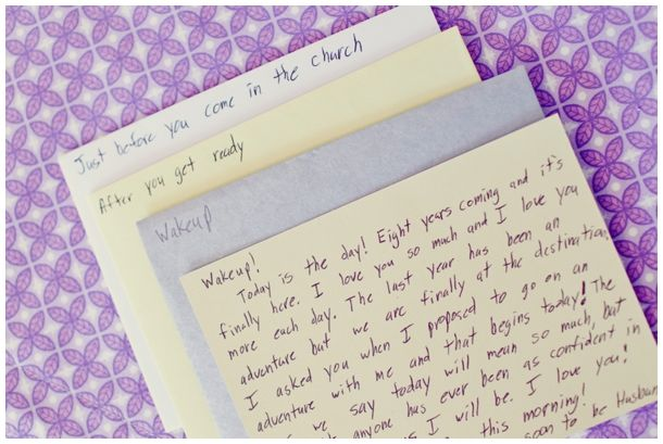 Groom's Letters To The Bride