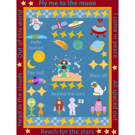 413 best images about ajpadilla s quilt on pinterest for Outer space quilt patterns