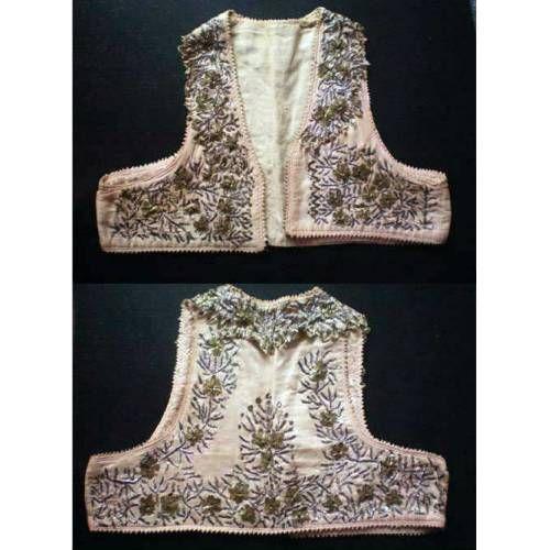 Antika Gümüş ve Altın Tel Kırma İşlemeli Cepken