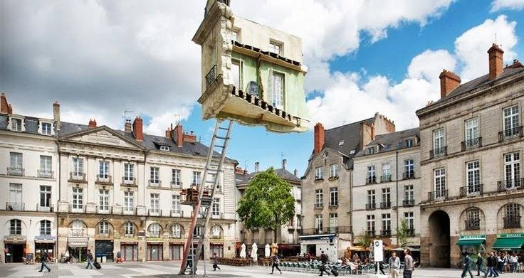 Floating Room Sculptures by Leandro Erlich