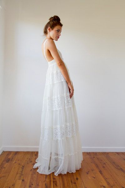 596 best romantic and ethereal dresses images on pinterest for Baby doll style wedding dress