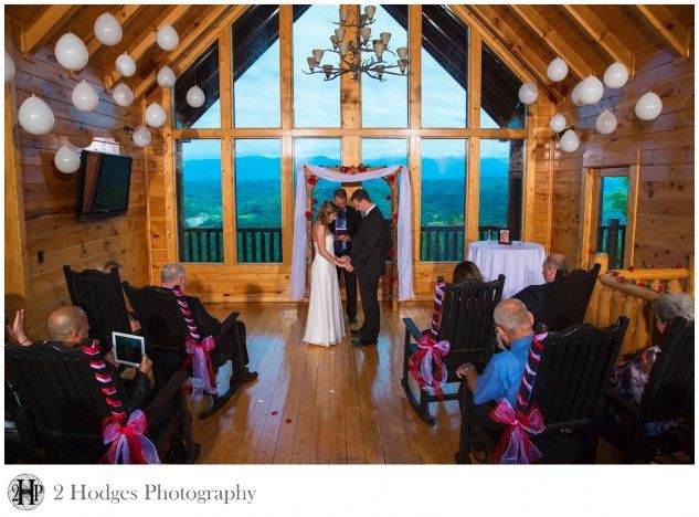 Intimate Cabin Wedding In Sevierville Tn Overlooking The