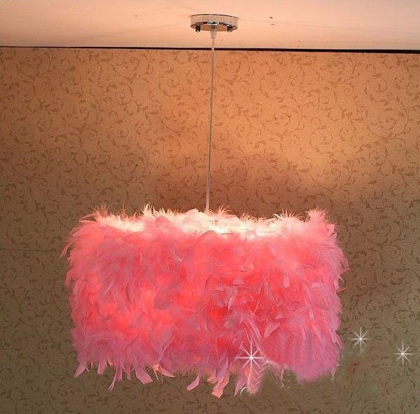 """Горячие продаж новый современный белые перья подвеска лампа освещения диаметр : 19.7 """" / 50 см купить на AliExpress"""
