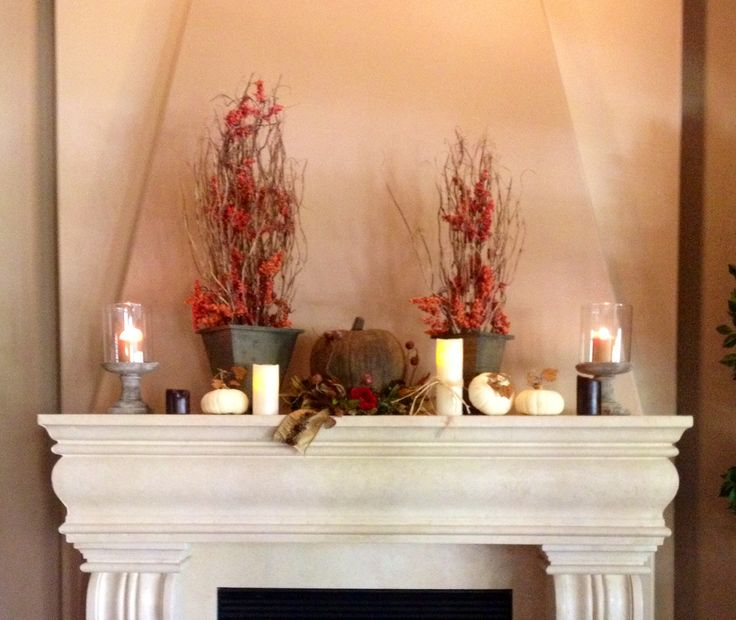 Fireplace Decorations 31 best fall fireplace decor images on pinterest | fireplace ideas