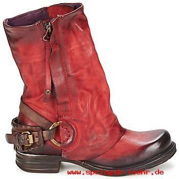Damenschuhe Stiefelletten / Boots Airstep A.S.98 SAINT METAL FRONT Rot 432900