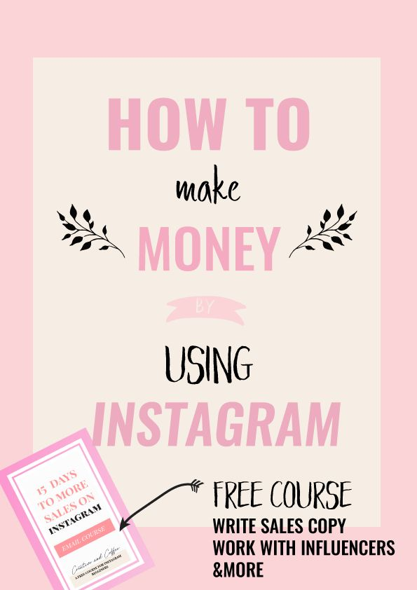 How To Make Money On Instagram: Four ways in which you can make either passive or active income using the Instagram platform.  via @creativencoffee