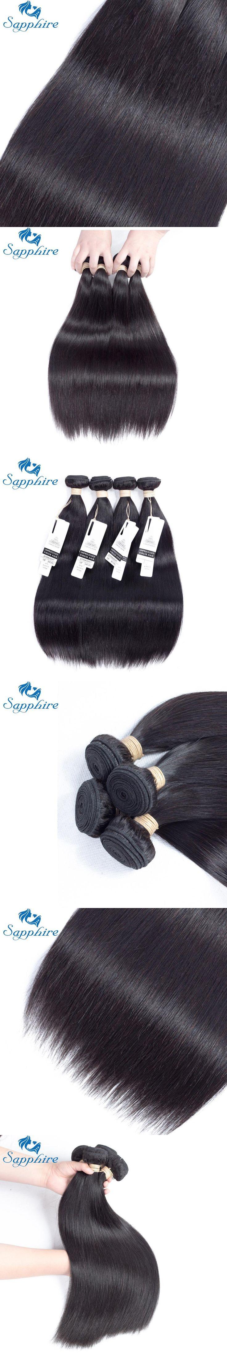 Sapphire Hair Products 4PCS/Lot Malaysian Straight Human Remy Hair Bundles Natural Back Malaysian Hair Weaving For Hair Salon
