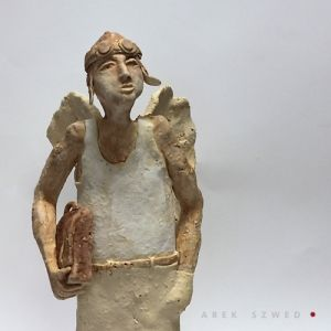 Ceramic Angel handmade Arek Szwed