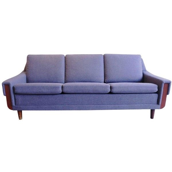 Scandinavian Three-Seat Sofa, New Grey Flannel Upholstery, 1960s-1970s ($3,315) ❤ liked on Polyvore featuring home, furniture, sofas, gray sofa, upholstery fabric furniture, upholstered sofa, grey fabric couch and fabric couch