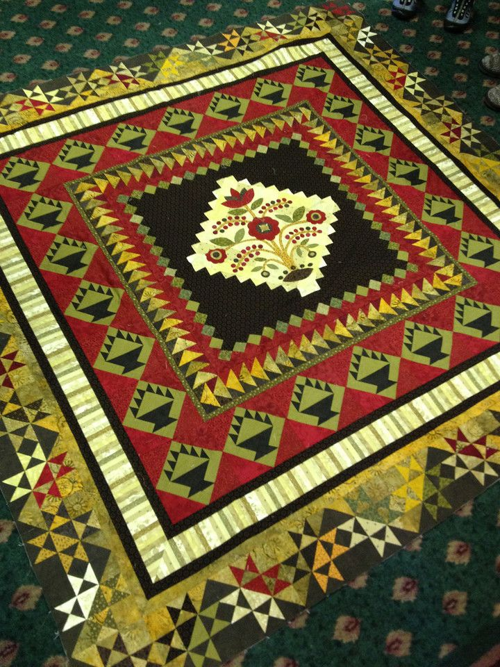 Gorgeous Quilt...Great Border and basket blocks!