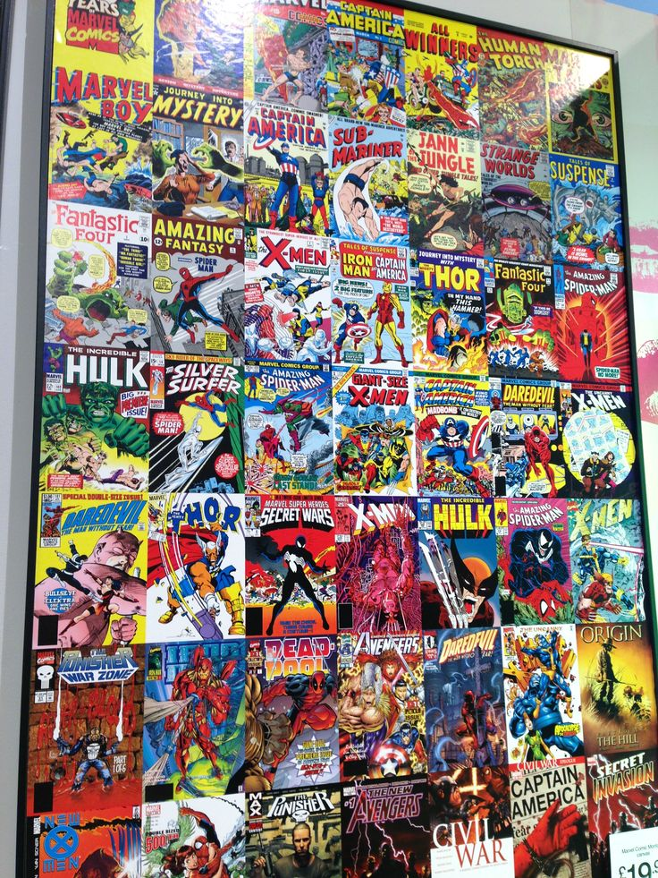 The Marvel Comic Montage Canvas From The Multi Colour