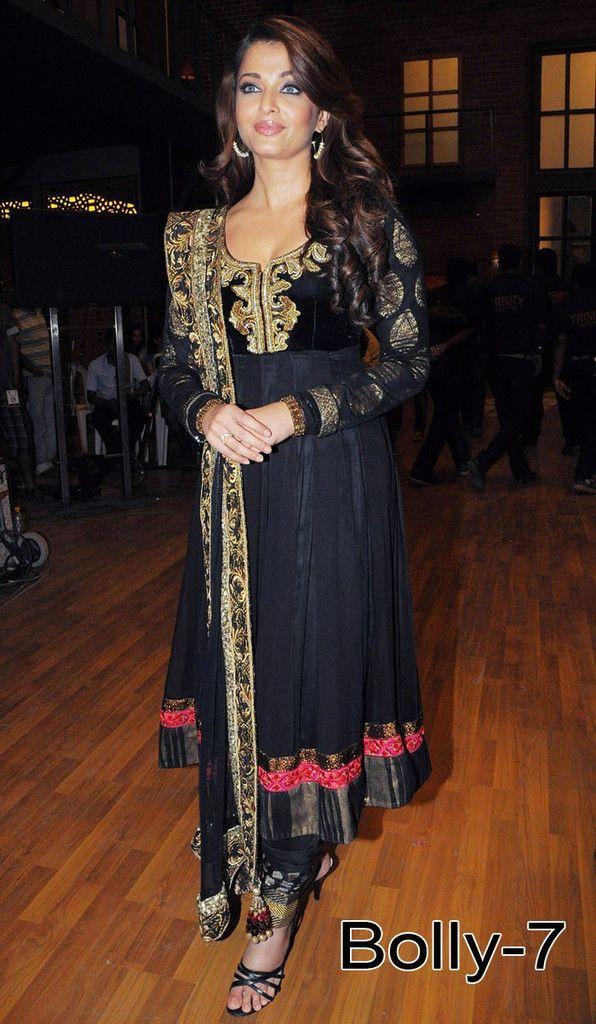 Aishwarya rai's black color anarkali suit