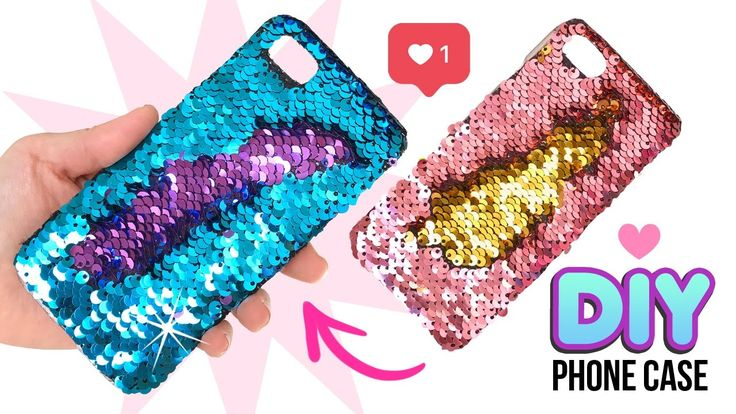 DIY Amazing VIRAL Color-Changing Phone Case!! DIY Mermaid Sequin Phone C...