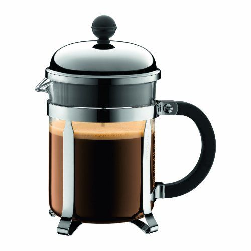 Bodum Chambord 4 Cup French Press Coffee Maker, 17-Ounce, Chrome - http://teacoffeestore.com/bodum-chambord-4-cup-french-press-coffee-maker-17-ounce-chrome/