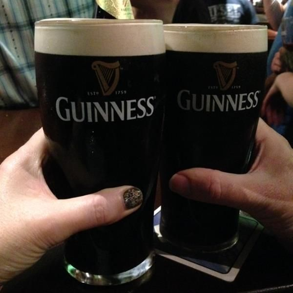 A pint of the black stuff and our hospitality! Slainte! by Linda