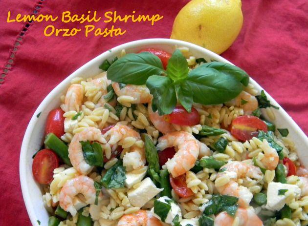 Lemon Basil Shrimp Orzo Pasta | Closet and Kitchen