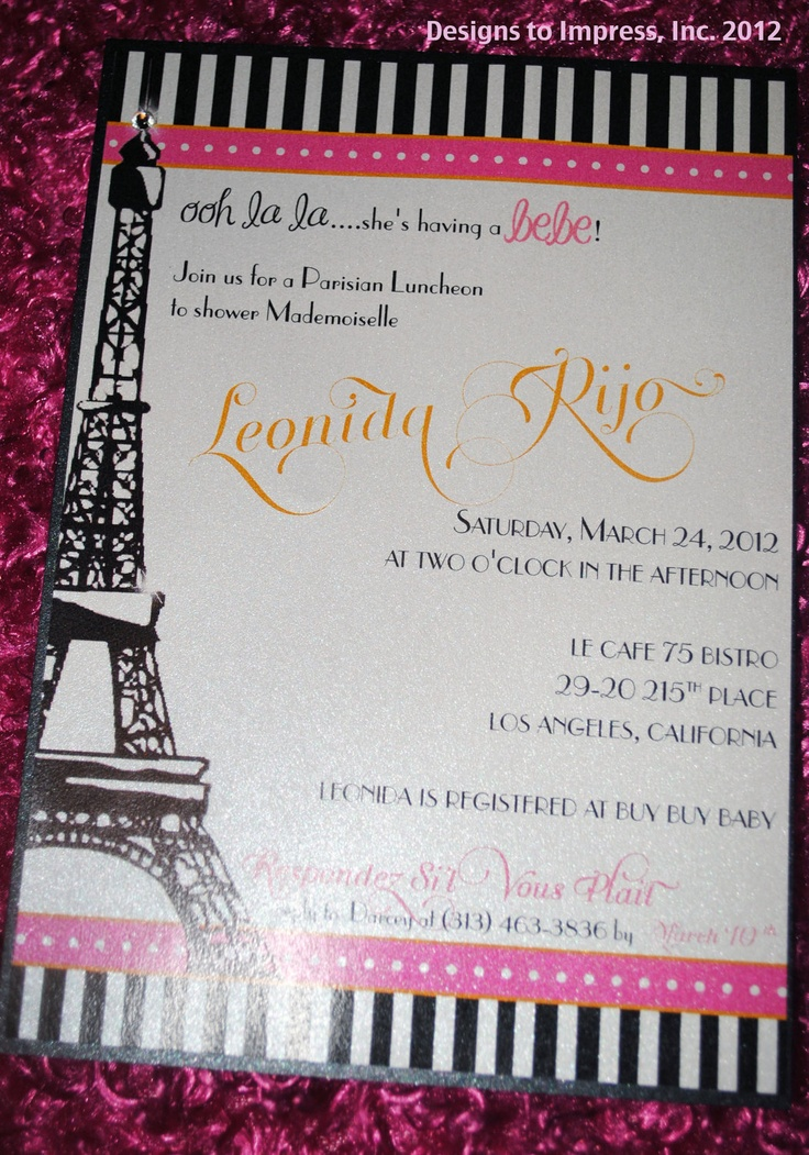 73 best Paris themed baby shower:) images on Pinterest | Baby ...