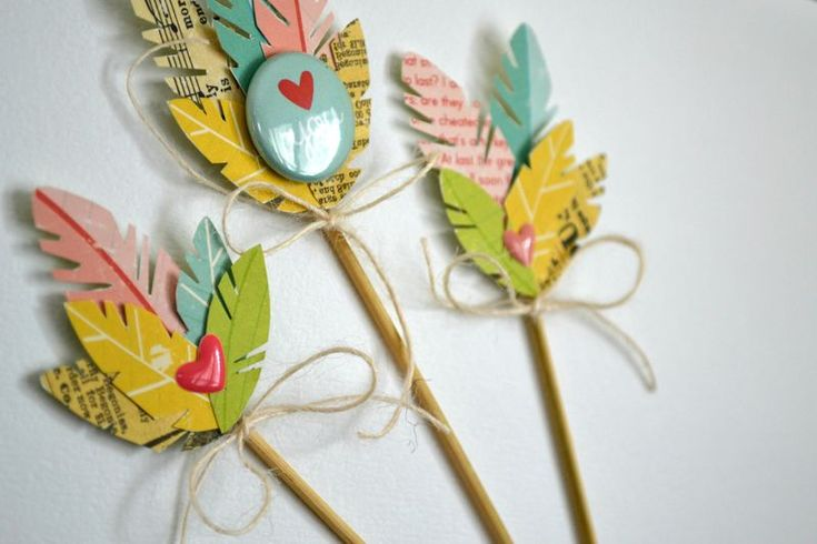 FEATHER ARROW EMBELLISHMENTS - October Afternoon - tutorial by Vivian Masket.