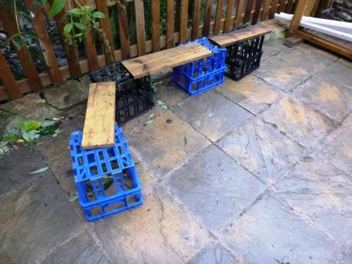 """Crates & planks at Snowdrop Cottage Day Nursery - image shared by Niki Willows - Outside ("""",)"""