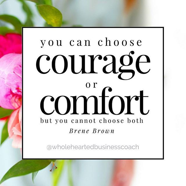 ✨You can choose courage or comfort but you cannot choose both - Brene Brown✨ . You can either stick with what you know and be comfortable or you can choose to be courageous and completely out of your element. . #successmindset #successquotes #businessquote #quote #inspirationalquote #entrepreneurquote #entrepreneur #motivationalquote #inspiration #motivation #success #mindset #brenebrown