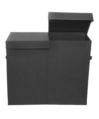 Look what I found on #zulily! Black Folding Double Laundry Basket by Modern Littles #zulilyfinds