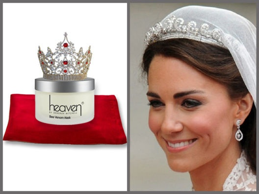 The Royal Treatment: Bee Venom by Heaven Mask. a natural alternative to botox. Supposed to have been used by Kate Middleton