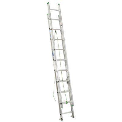 Werner 20-ft Type II Aluminum Extension Ladder