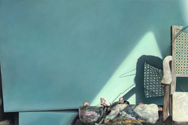 "WOMAN BY A WINDOW – 2012 - Oil on canvas - 120cm x 180cm, 71"" x 47""  Studio: Alexander Seiler"
