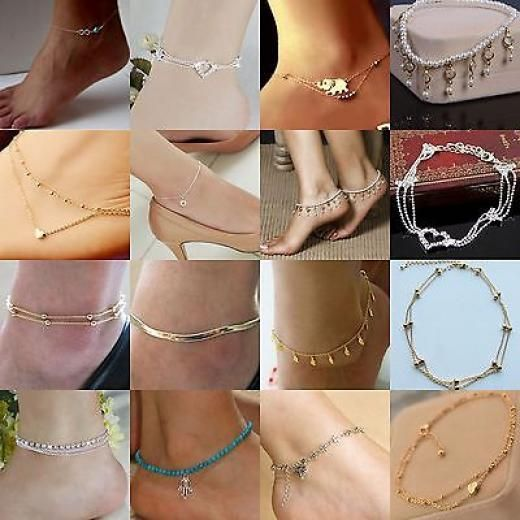 Sexy Woman Fashion Best Charm Silver Gold Chain Anklet/ankle Beach Foot Bracelet 14k 23cm No Stone Alloy Cartoon Tv & Movie Characters