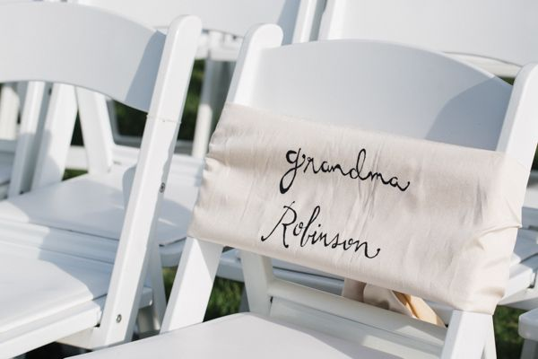 southern wedding reserved chair This Wedding Captures the Best of North Carolina