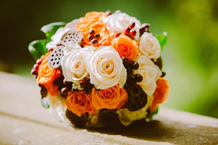 weddingbouquet #brautstrauss #braun #orange #creme #weddingplanner # ...