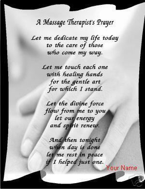 massage therapy prayer