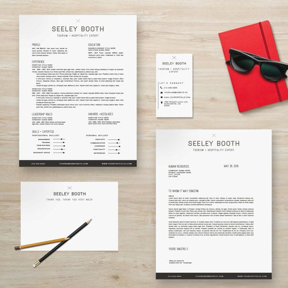 Resume Template Package Cv Template Cover Letter