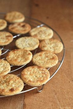 Crackers with sea salt for a drink or just for the pleasure of nibbling