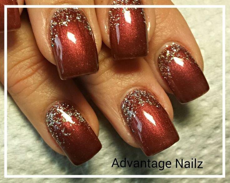 Safari Bronze And Glitter In 2019 Fall Gel Nails Fall Nail Art Designs Thanksgiving Nail Art