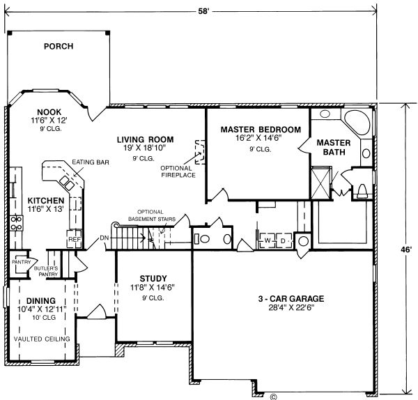 Plan No.248104 House Plans by WestHomePlanners.com