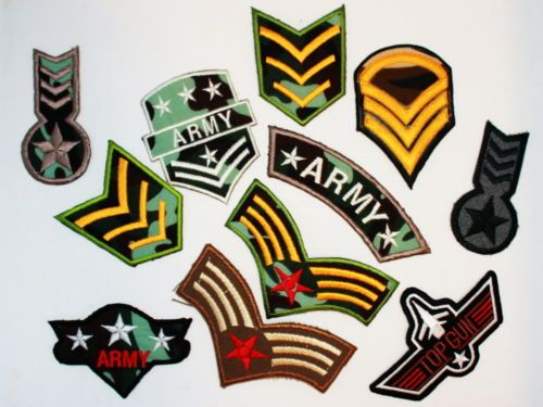 NEW-Lot-of-Military-Army-Solider-Navy-Pilot-TopGun-Air-EMBROIDERED-IRON-ON-PATCH