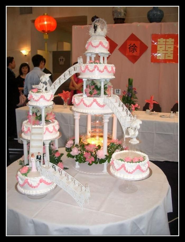 Bridge Wedding Cakes With Fountains Bridge Cake