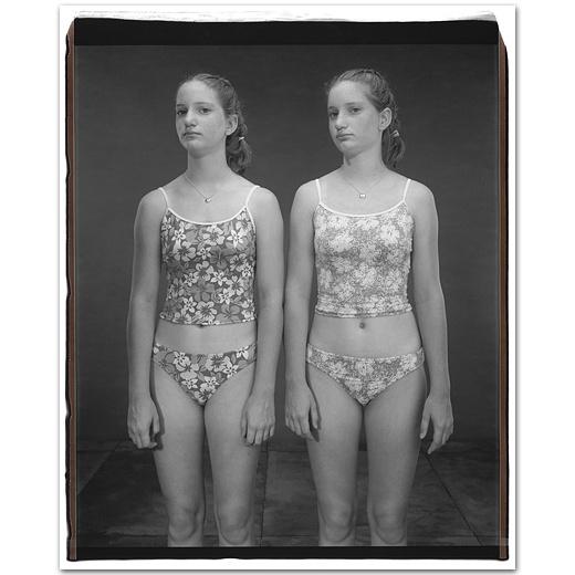 Jennifer and Emily Carp, 14 years old, Jennifer older by 50 minutes,  Twinsburg, Ohio, 2002