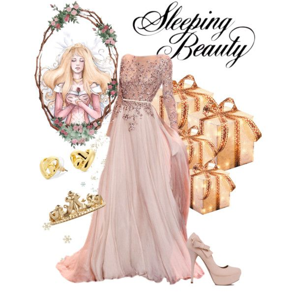 "Aurora ""christmas"" by violetvd on Polyvore featuring polyvore fashion style ASOS C. Wonder Disney"