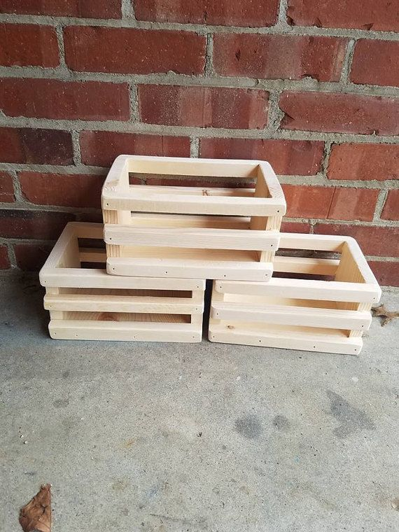 THREE Small Wood CRATES Perfect For TV Remotes by Ifonlyyouwood