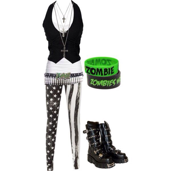 Cute outfit. It would be perfect for me to wear in summer time. Emo outfit | My Style (changes a ...