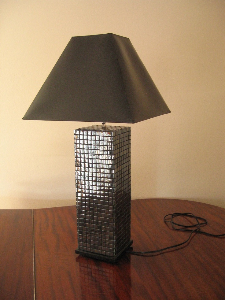 Mirrored Mosaic Tile Lamp Base Ledgan1 On Etsy Mirror Mosaic Lamp Bases Decor