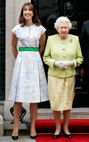 Samantha Cameron  - not a pear - but looking great in an outfit that would suit pear shaped ladies.
