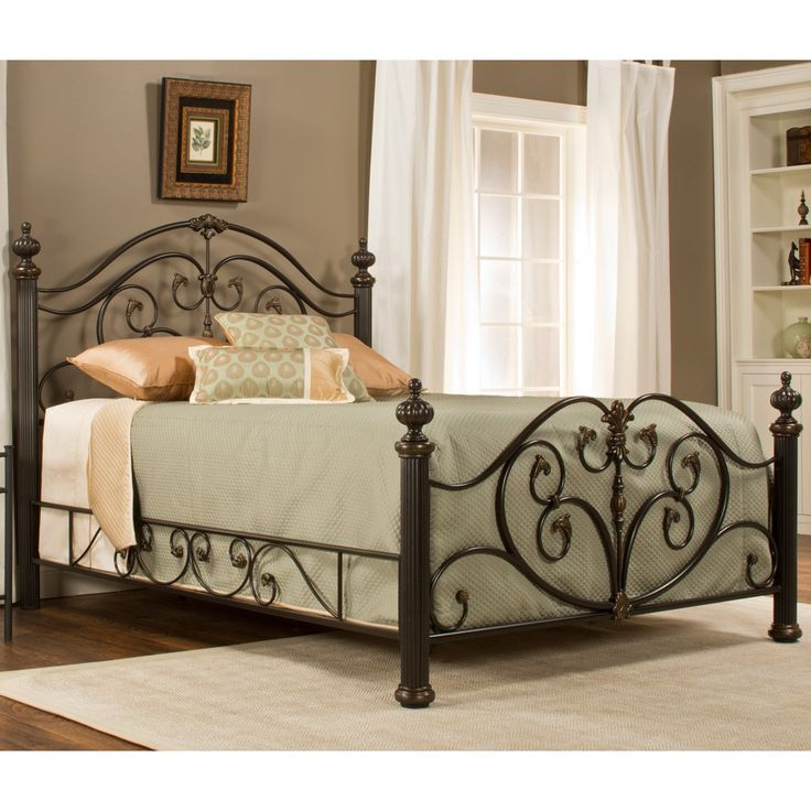 Grandisle Iron Bed In Brushed Bronze
