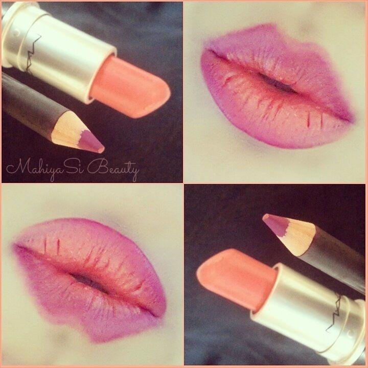 MAC Ombre Lips  Amplified Vegas Volt Lipstick Magenta Lip Liner
