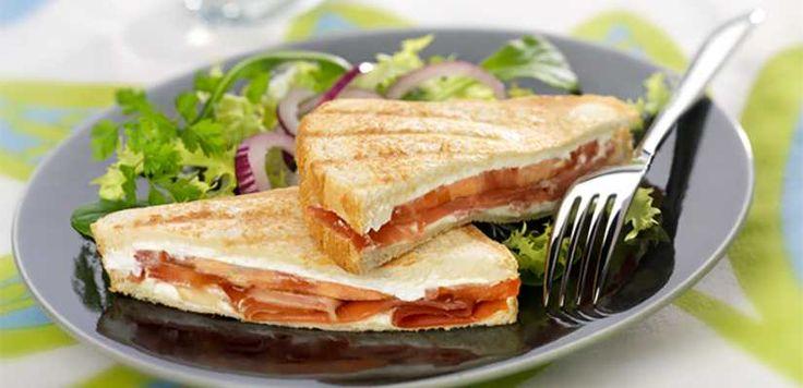 Croque-monsieur : Recette : Croque-monsieur au fromage de chèvre frais - Recette au fromage